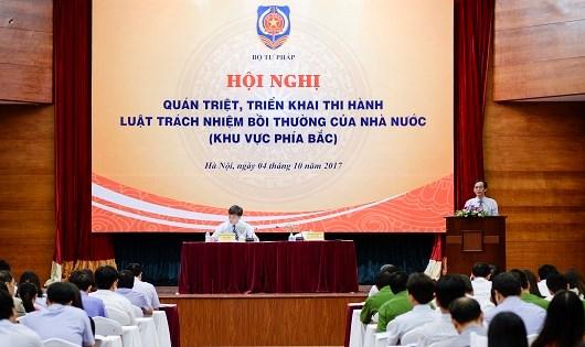 Bộ Tư pháp tổ chức Hội nghị quán triệt, triển khai thi hành Luật Trách nhiệm bồi thường của NN năm 2017