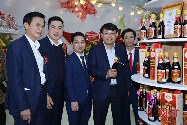 Khai trương điểm trưng bày sản phẩm OCOP và nơi làm việc chung cho doanh nghiệp Hà Tĩnh